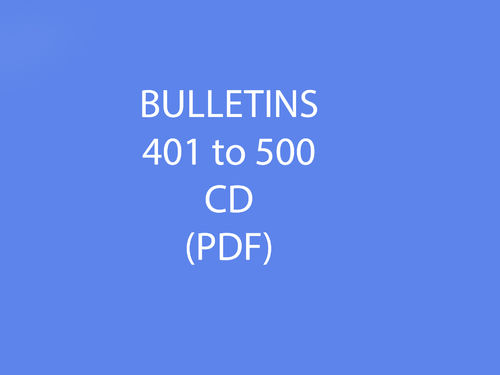 Bulletins 401-500 CD