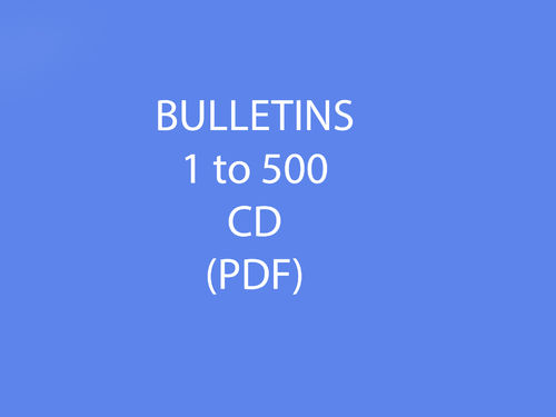 Bulletins 1-500 CD