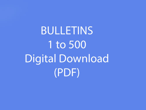Bulletins 1-500 as Downloadable file