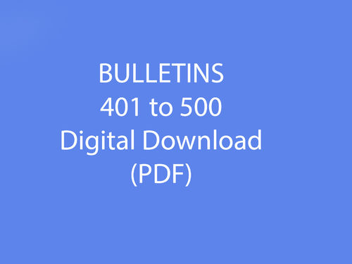 Bulletins 401-500 as Downloadable file