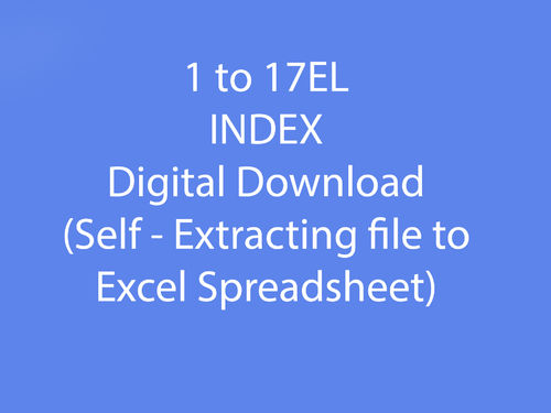 1 to 17EL Index as Downloadable file