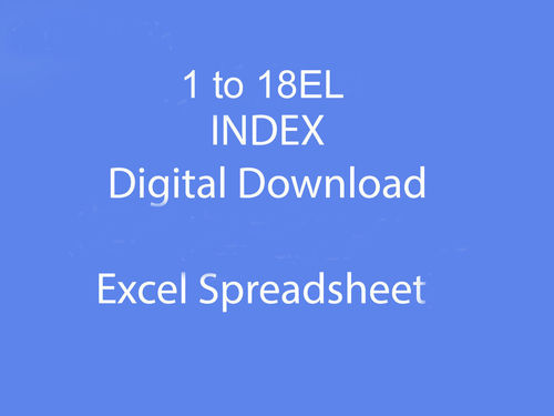 1 to 18EL Index as Downloadable file