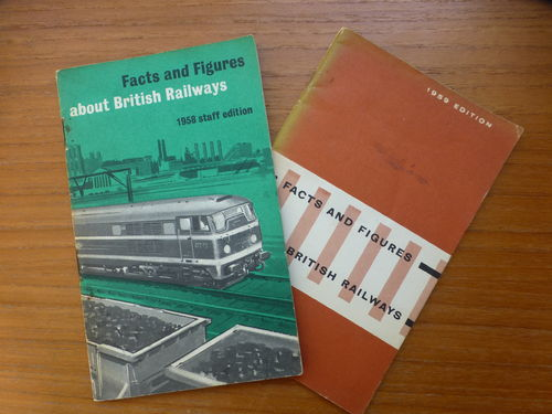 BR Facts and Figures 1958 & 1959 2 pocket handbooks