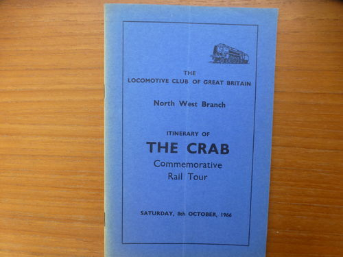 LCGB The Crab Rail Tour booklet 08/10/66